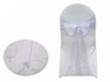 Motif Embroidery Chair Sash - Lavender