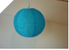 25.40cm Solar Powered Lantern-Blue/Turquoise