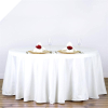 304.80cm Round Tablecloth - White