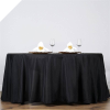 335.28 cm Round Tablecloth - Black