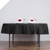177.80cm Round Tablecloth - Black