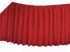 Linen Table Skirt - Red (3 sizes)