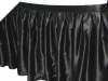 Satin Table Skirt - Black (3 sizes)