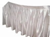 Satin Table Skirt - White (3 sizes)