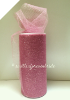 Glitter Tulle Roll 15.24cm x 22.86m - Pink (Baby)