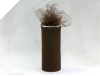 15.24cm x 22.86m Tulle Roll - Chocolate