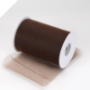 15.24cm x 91.44m Tulle Roll - Chocolate