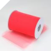 15.24cm x 91.44m Tulle Roll - Coral