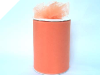 15.24cm x 91.44m Tulle Roll - Orange