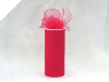 15.24cm x 22.86m Tulle Roll - Red