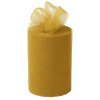 15.24cm x 91.44m Tulle Roll - Gold