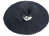22.86 cm Tulle Circle - Black/25pk