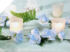 Rose Garland-Baby Blue-4pk