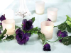 Rose Garland-Purple-4pk