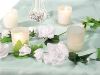 Rose Garland-White-4/pk
