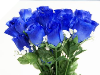 Silk Rose Buds - Royal Blue 1-bunch