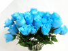 Silk Rose Buds - Turquoise 1-bunch