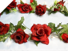 Supersized Rose Garland-Black/Red
