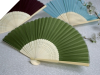 Asian Silk Folding Fans - Willow