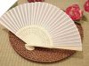 Asian Silk Folding Fans - White