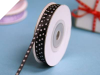 0.31 cm Satin Polka Dot - Black