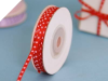 0.31 cm Satin Polka Dot - Red