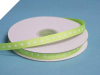 0.95 cm Grosgrain Polka Dot -Apple Green