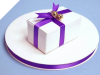0.95 cm Satin Ribbon-Purple