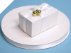 0.95 cm Satin Ribbon-White