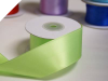 3.81 cm Wired Satin Ribbon - Apple Green