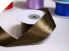 3.81 cm Wired Satin Ribbon - Chocolate