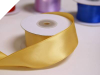 3.81 cm Wired Satin Ribbon - Gold