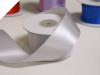 3.81 cm Wired Satin Ribbon - Silver