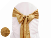 Gold Taffeta Crinkle Chair Sash