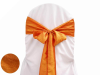 Coral Orange Taffeta Crinkle Chair Sash