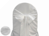 White Taffeta Crinkle Chair Sash