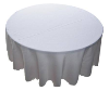 177.80cm Round Tablecloth - White