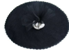 30.48 cm Tulle Circle-Black/25pk