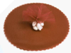 22.86 cm Tulle Circle - Chocolate/25pk