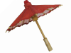 50.80cm Red Paper Parasol / Umbrella
