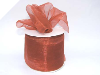 6.98cm Organza Ribbon-Copper
