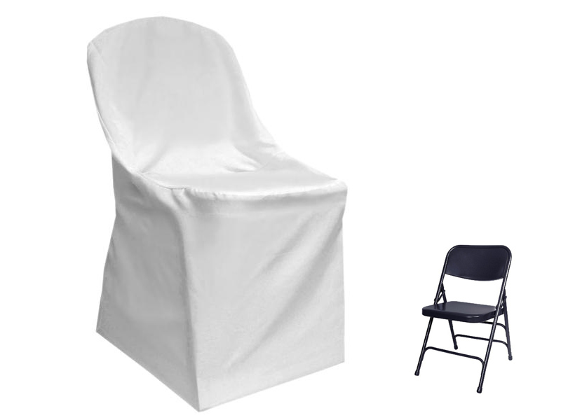Folding Chair Cover Flat Top WHITE