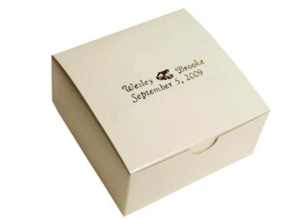Personalized Cake Box 100 Count Ivory